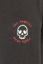 Long-sleeved T-shirt - Black/Los Angeles - Kids | H&M CN 3